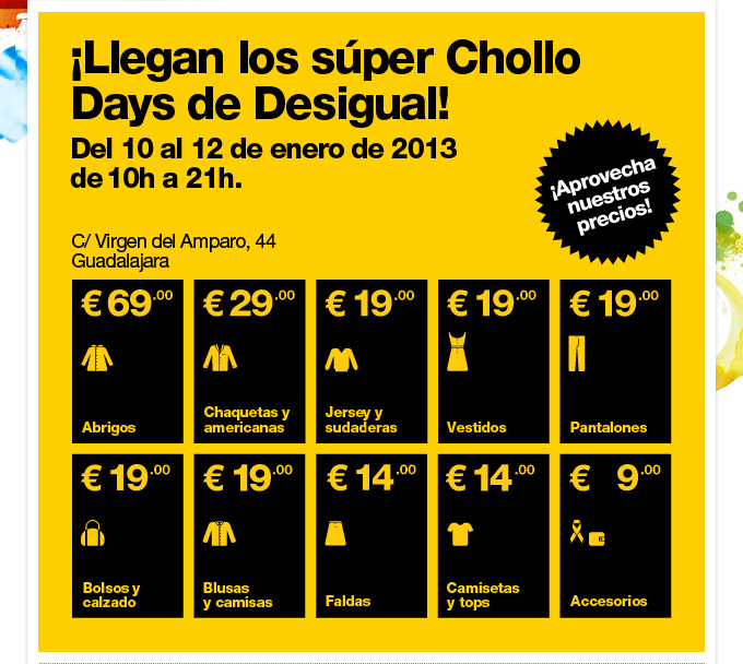 ¡Llegan los súper Chollo Days de Desigual!